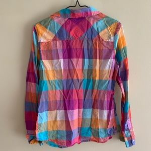 SO Shirts & Tops - Girls SO Perfect Vibrant Plaid Button-down Shirt